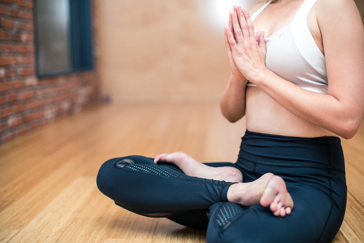 pilates girl in pose