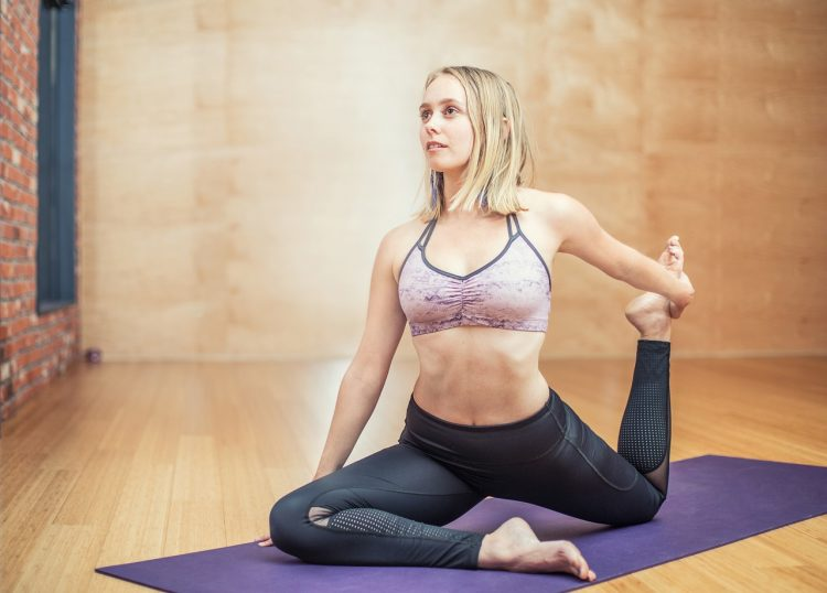 girl doing stretch pose